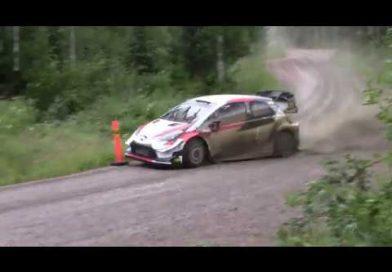Kalle Rovanperä jälleen Yaris WRC:n ratissa, nuorukaisella mutainen ja märkä testipäivä (video)